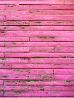 Mahahual caribbean pink wood painted wall