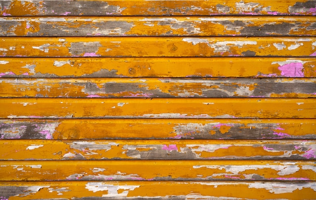 Mahahual caribbean yellow wood painted wall