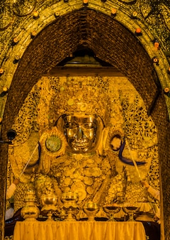 Mahamuni buddha is the most famous of all the religious places in mandalay, myanmar