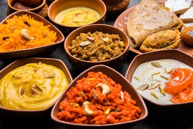 Maharashtrian food thali or platter - mumbai style meal from indian state maharashtra