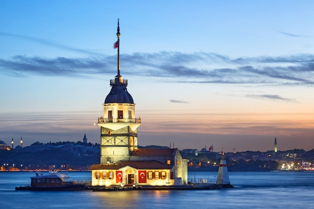 Maiden's tower at sunset