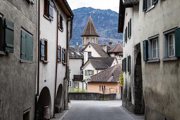 Майенфельд в осенней швейцарии