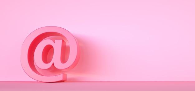 Почта знак электронной почты элемента дизайна 3render.