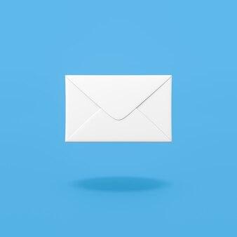 Mail envelope on blue background