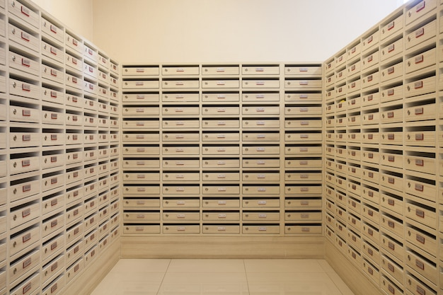 Mailbox and letterbox room