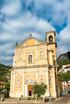 Main church of marone at lake iseo in italy