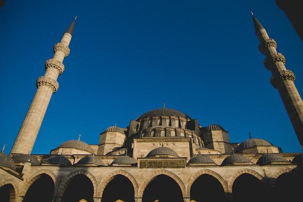 Main facade of the historic mosque of hagia sophia