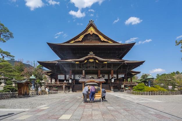 The main hall of zenkoji temple in nagano, japan