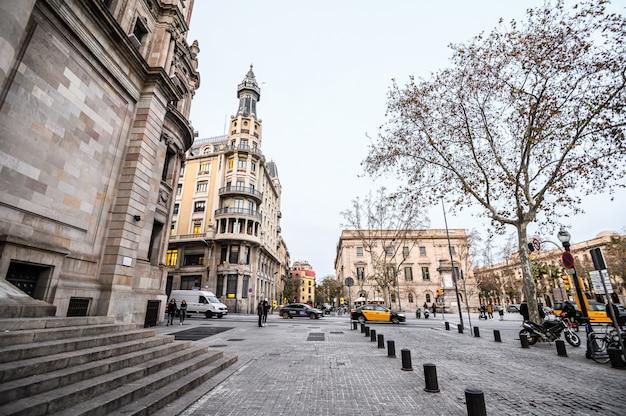 Main post office  building. plaza de antonio lopez close to the main street via laietana in the born.  03.01.2020 barcelona, spain.