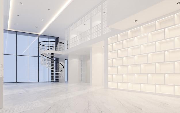 대리석 바닥 3d 렌더링 mainhall 더블 공간 인테리어 중외 포르투갈어 스타일