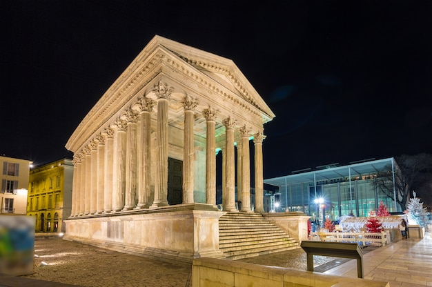 Maison carree roman temple in nimes