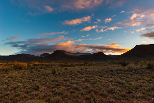 Majestic landscape at karoo national park, south africa