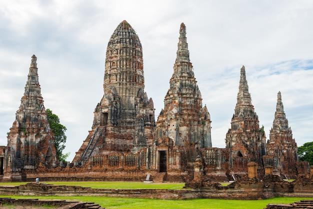 Majestic ruins of 1629 wat chai watthanaram built by king prasat tong