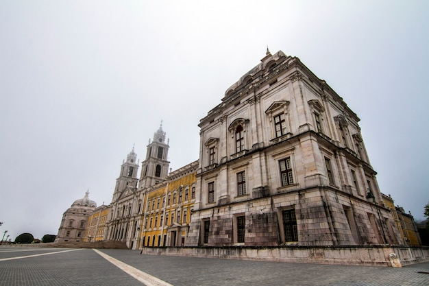 Majestic view of the national palace of mafra landmark, portugal.