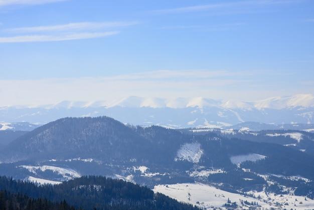 Majestic winter mountainous landscape