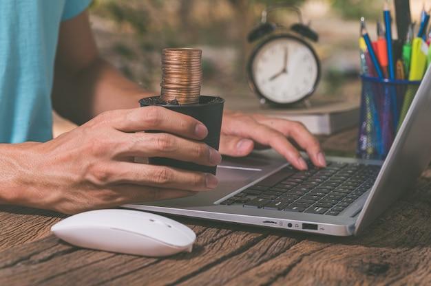 Make money online through a notebook computer.