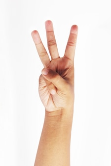 Make a three finger symbol