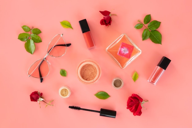 Make up beauty products and perfume