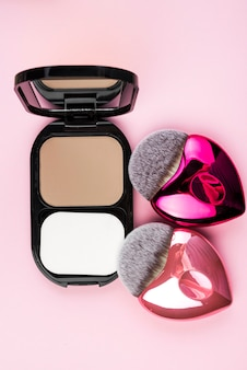 Make up bronzer with brushes