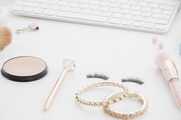 Make up with keyboard and accessories