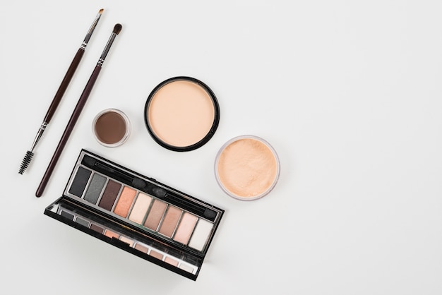 Makeup and beauty product in natural palette