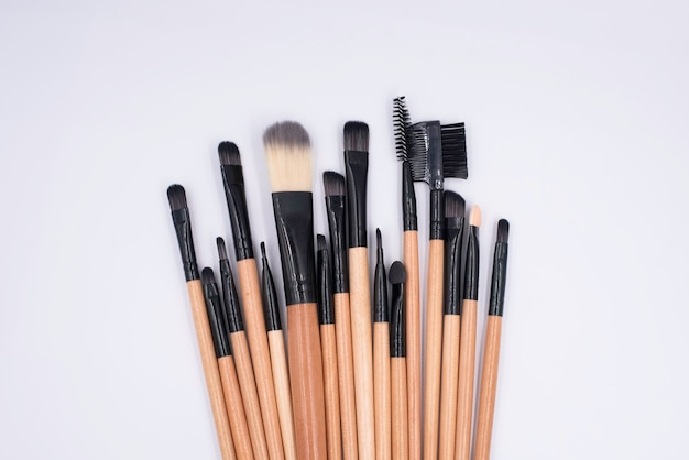 Makeup brushes put on background,cosmetic tool