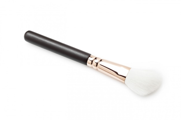 Makeup brushes on white