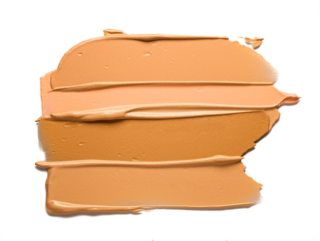 Makeup cream foundation isolated on white