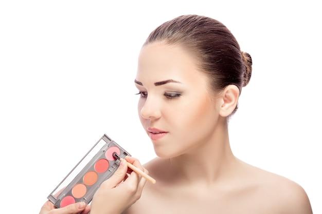Кисть для теней для макияжа