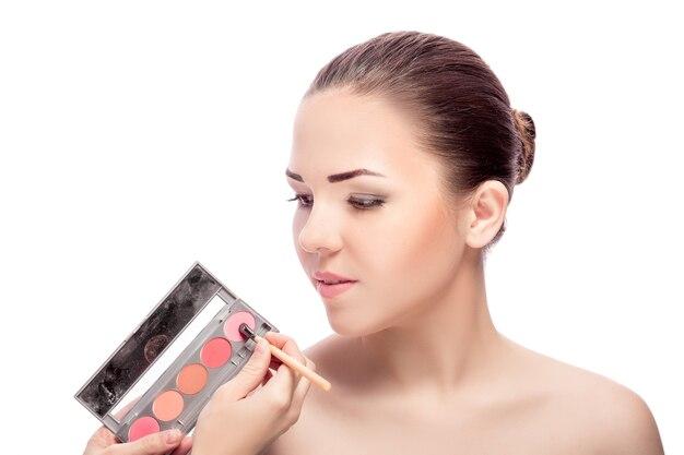 Кисть для теней для макияжа Premium Фотографии