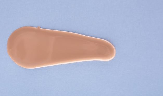 Makeup foundation, concealer swatch smudge smear