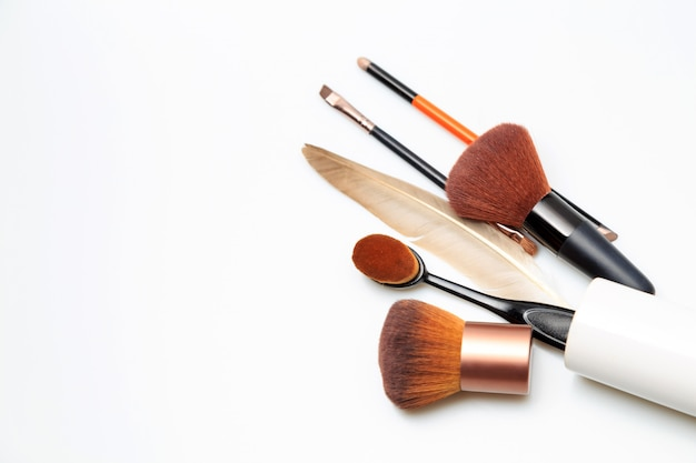 Makeup products white