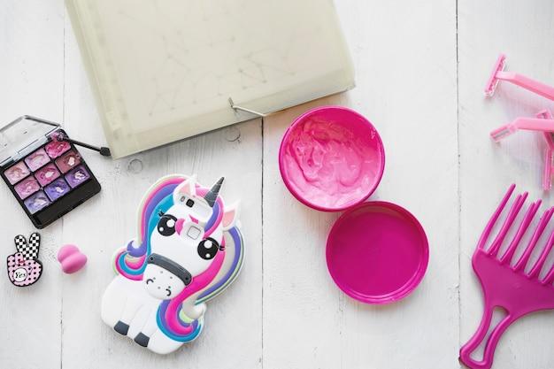 Makeup supplies of teenager