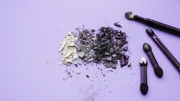 Makeup tools and eyeshadow