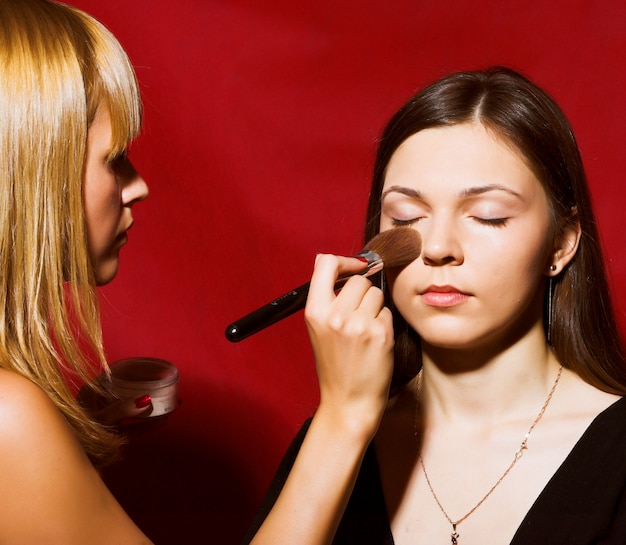 Makeup for young woman