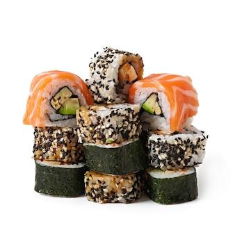 Maki sushi isolated on white