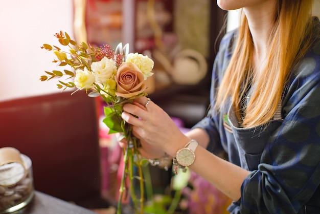 Making a bouquet