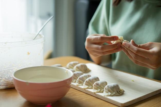 中国風餃子を自家製にする