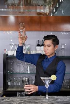 Making cocktail