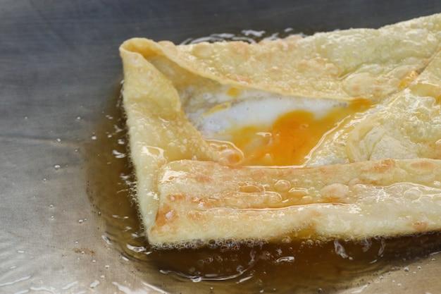 Making of dessert sweet roti