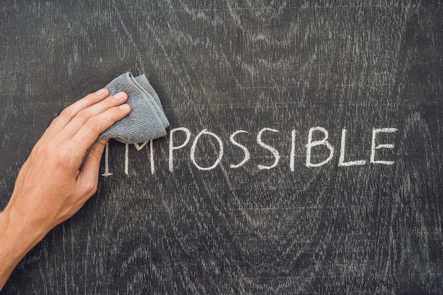 Making the impossible possible concept