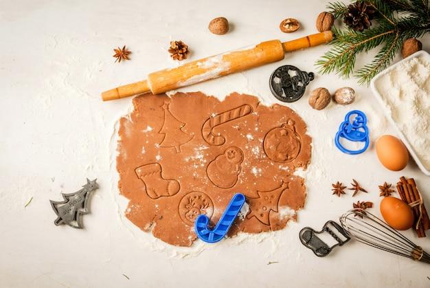 伝統的なクリスマスのジンジャーブレッドを作る