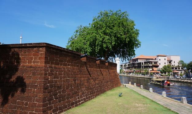Malacca river quayside square walk