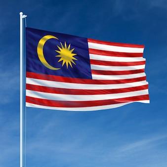 Malaysia flag flying