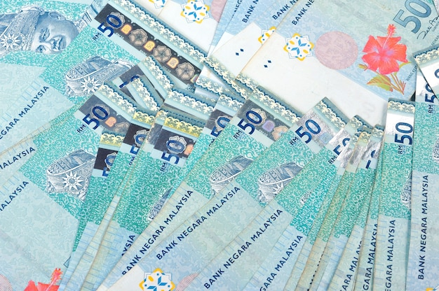 Malaysia ringgit note background