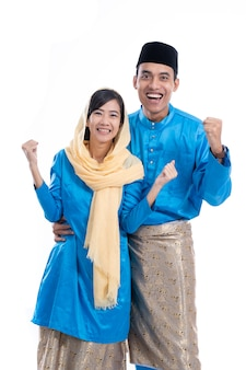 Malaysian muslim couple excited