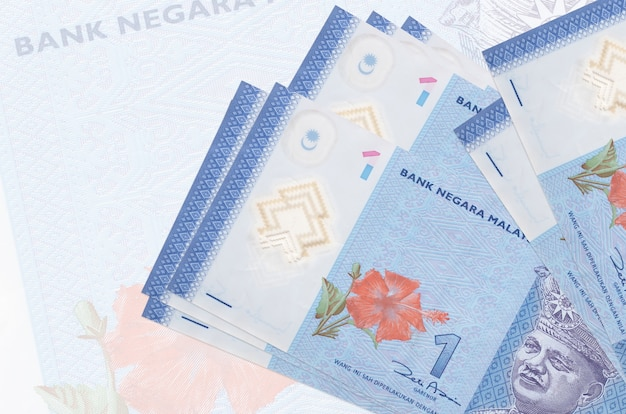 Malaysian ringgit bills on a white background