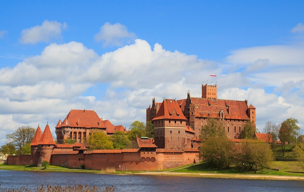 Malbork castle in pomerania region of poland.
