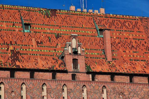 Мальборк - замок крестоносцев в польше.