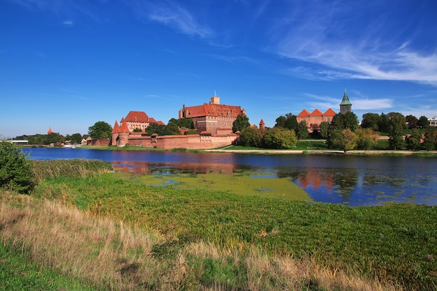 Malbork is crusader castle in poland
